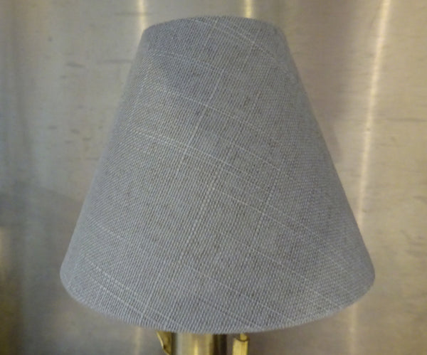 "Grey Hessian Linen Clip On Candle Lampshade 5.5"" Chandelier Pendant Light Shade 5"