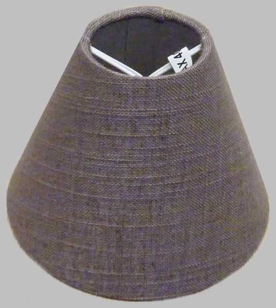 "Moccha Hessian Linen Clip On Candle Lampshade 5.5"" Chandelier Pendant Light Shade 3"