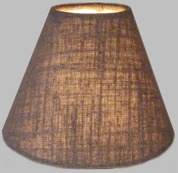 "Moccha Hessian Linen Clip On Candle Lampshade 5.5"" Chandelier Pendant Light Shade 1"