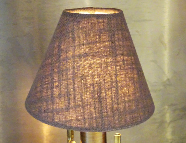 "Moccha Hessian Linen Clip On Candle Lampshade 5.5"" Chandelier Pendant Light Shade 6"