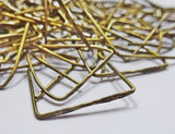 100 x 54mm 2 inch Etched Antique Brass Chandelier Clasps Links for XL Glass Droplets Crystals Beads Drops 1