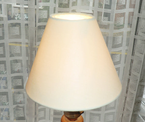 Cream Clip On Candle Lampshade 5 Inch Diameter Chandelier Shade Retro 4