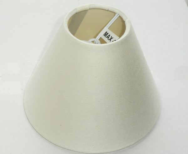Cream Clip On Candle Lampshade 5 Inch Diameter Chandelier Shade Retro 5