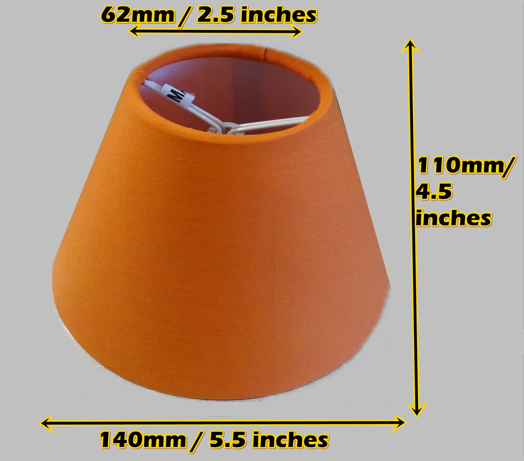 "Orange Clip On Candle Lampshade 5.5"" Chandelier Pendant Light Shade Retro 1"