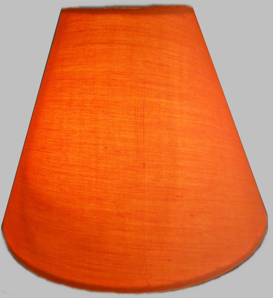 "Orange Clip On Candle Lampshade 5.5"" Chandelier Pendant Light Shade Retro 3"