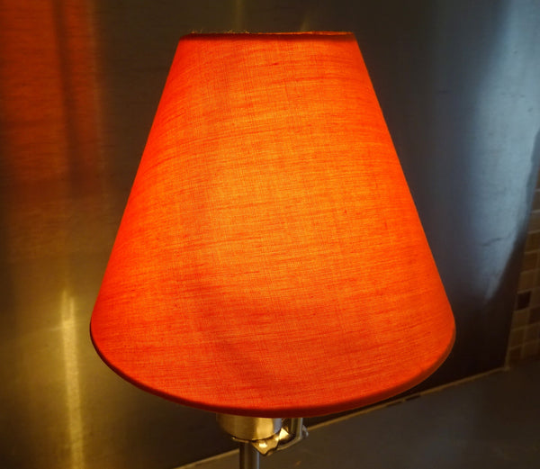 Retro Orange Clip On Candle Lampshade 5 Inch Diameter Kitsch Shade for Pendant Chandelier 3