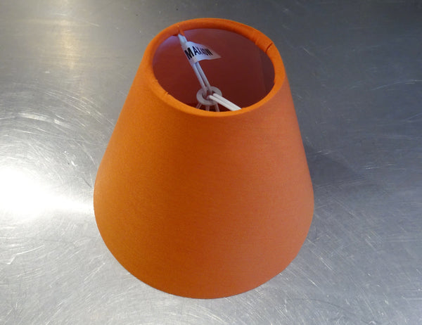 Retro Orange Clip On Candle Lampshade 5 Inch Diameter Kitsch Shade for Pendant Chandelier 4