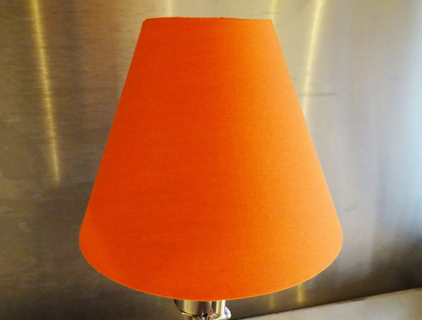 Retro Orange Clip On Candle Lampshade 5 Inch Diameter Kitsch Shade for Pendant Chandelier 5