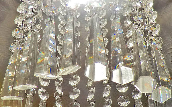 "12 Clear Icicles 72mm 3"" Chandelier Crystals Drops Beads Droplets Garden Window Decorations 5"