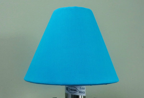 Turquoise Blue Clip On Candle Lampshade 5 Inch Diameter for Chandelier Pendant 4