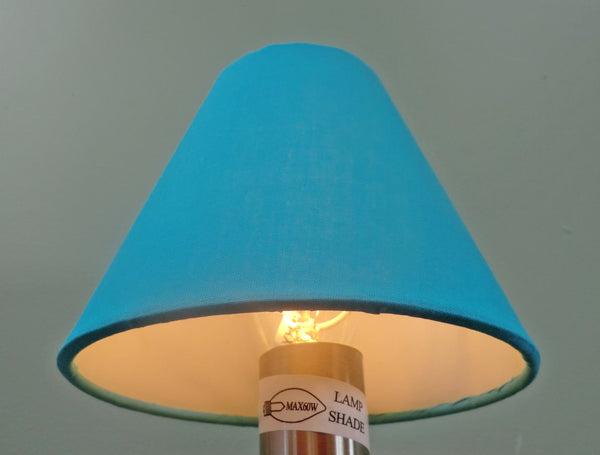 Turquoise Blue Clip On Candle Lampshade 5 Inch Diameter for Chandelier Pendant 2