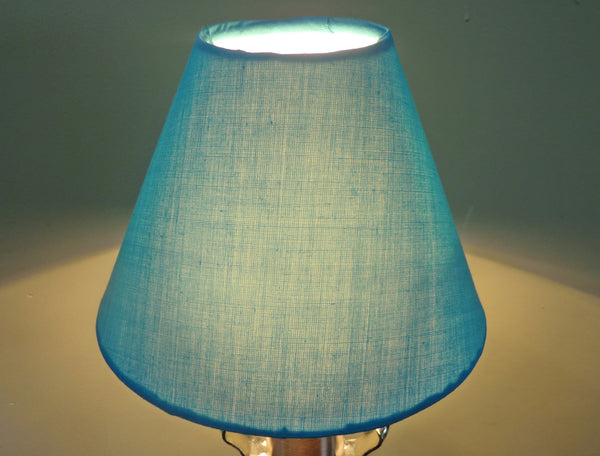 Turquoise Blue Clip On Candle Lampshade 5 Inch Diameter for Chandelier Pendant 7