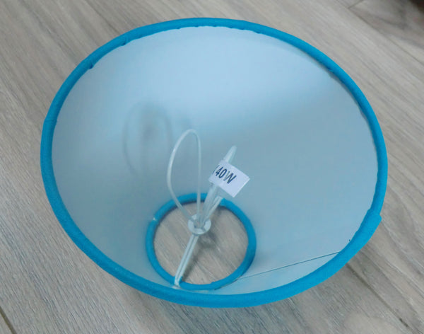 Turquoise Blue Clip On Candle Lampshade 5 Inch Diameter for Chandelier Pendant 8