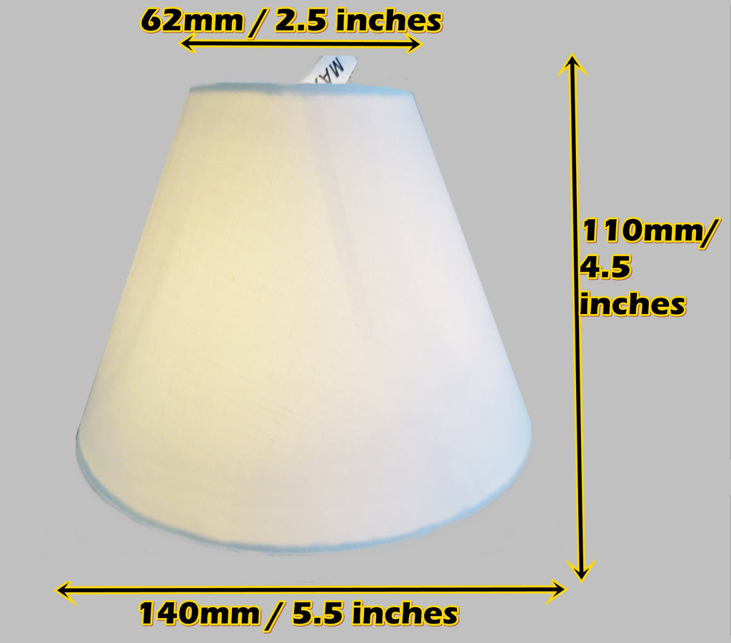 "White Clip On Candle Lampshade 5.5"" Chandelier Pendant Light Shade Retro Contemporary 2"