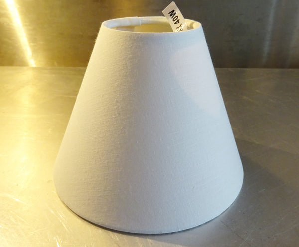 Brilliant White Clip On Candle Lampshade 5 Inch Diameter Chandelier Shade Classic 2