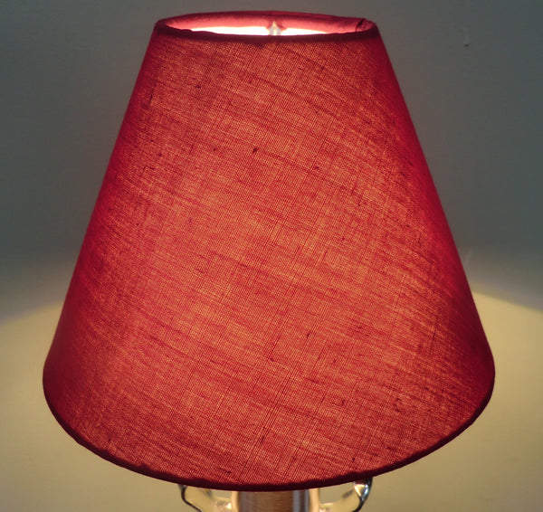Burgundy Wine Red Clip On Candle Lampshade 5' Classic Regal 2