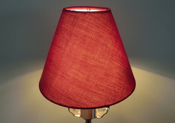 Burgundy Wine Red Clip On Candle Lampshade 5' Classic Regal 4