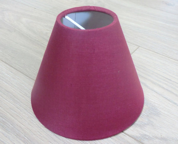 Burgundy Wine Red Clip On Candle Lampshade 5' Classic Regal 6