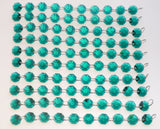 100 Vintage Art Deco Look Peacock Green Royal Teal Chandelier Drops Parts Machine Cut Glass Crystals Shabby Droplets Upcycle Beads Charms Christmas Tree Wedding Decorations Bundle 2m Garland Feng Shui Sun Catchers 3