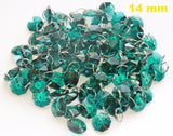 100 Vintage Art Deco Look Peacock Green Royal Teal Chandelier Drops Parts Machine Cut Glass Crystals Shabby Droplets Upcycle Beads Charms Christmas Tree Wedding Decorations Bundle 2m Garland Feng Shui Sun Catchers 5