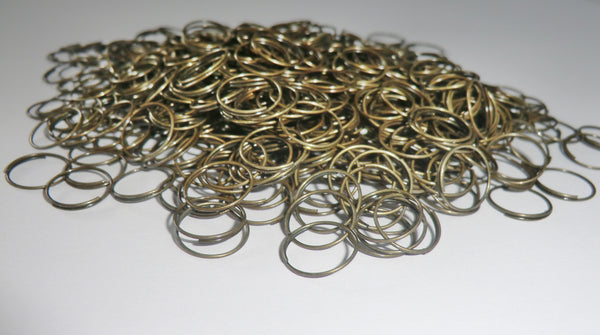 300 Antique Brass Chandelier 11mm Rings Links for Droplets Crystals Drops 3
