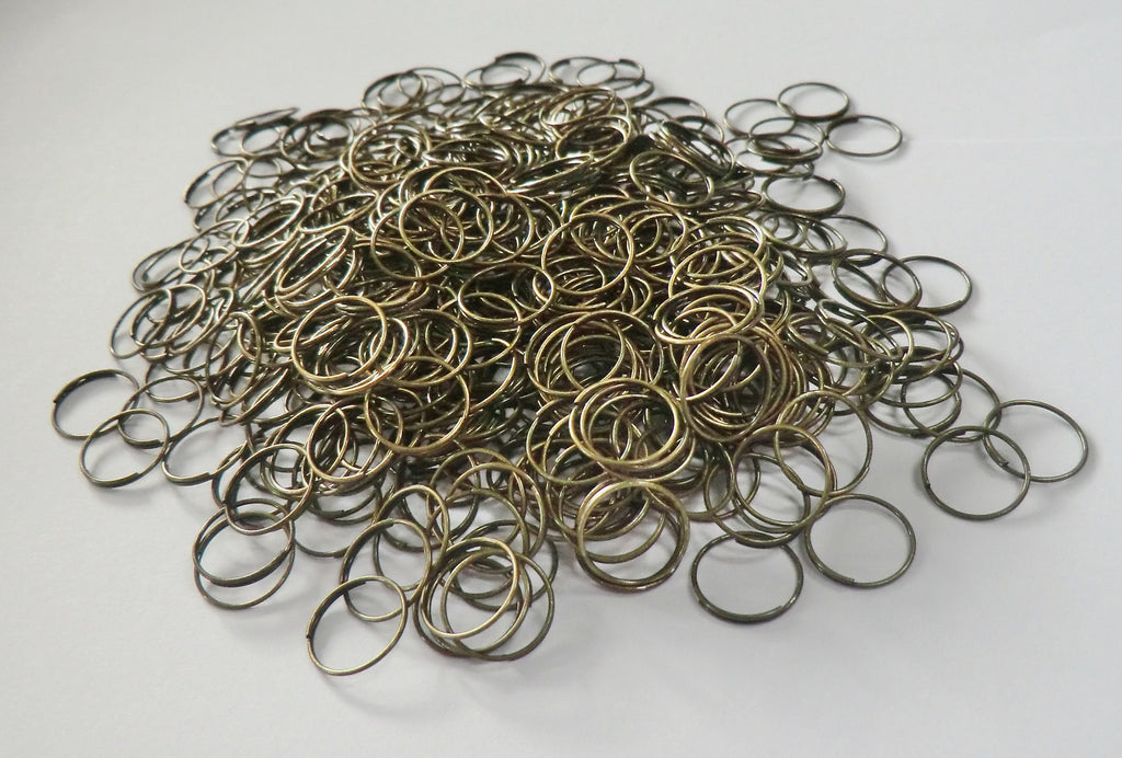 300 Antique Brass Chandelier 11mm Rings Links for Droplets Crystals Drops 1