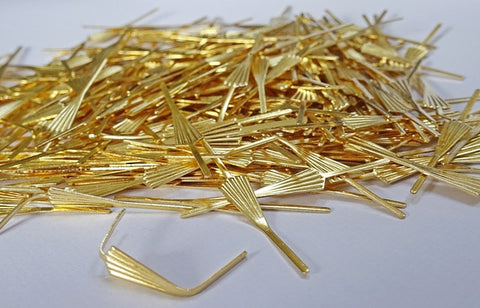 300 Brass Gold Metal Chandelier Fan Arrow Clasps Links for Droplets Beads Crystals Drops 1