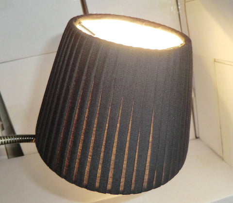 Black Clip On Candle Pleated Lampshade 6' Diameter Chandelier Shade Classic 2
