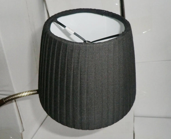 Black Clip On Candle Pleated Lampshade 6' Diameter Chandelier Shade Classic 3