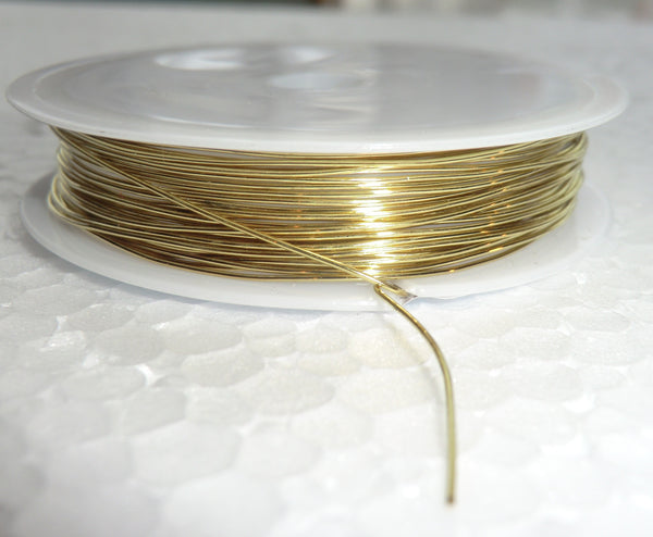 6 Metre Reel Brass Chandelier Wire Links for Droplets Crystals Drops 1