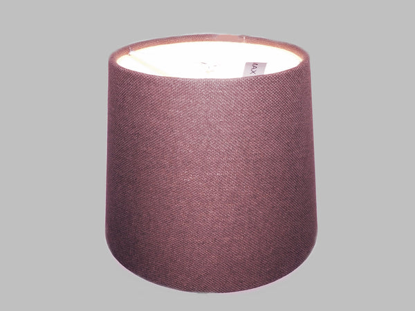 "Brown Grey Hessian Linen Clip On Candle Drum Lampshade 6"" Chandelier Pendant Shade 2"