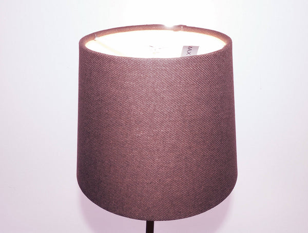 "Brown Grey Hessian Linen Clip On Candle Drum Lampshade 6"" Chandelier Pendant Shade 4"