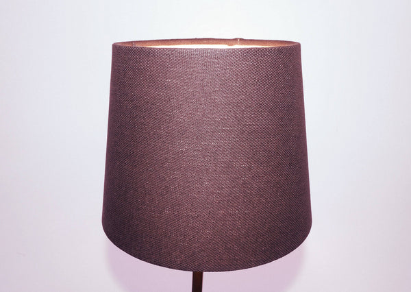 "Brown Grey Hessian Linen Clip On Candle Drum Lampshade 6"" Chandelier Pendant Shade 5"