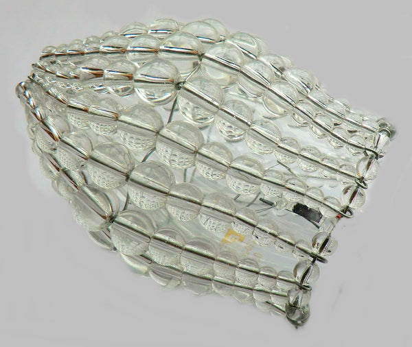 Chandelier Bead Light Candle Bulb Clear Glass Cover Sleeve Lampshade Alternative Beaded 4