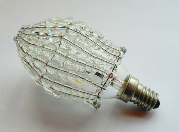 Chandelier Bead Light Candle Bulb Clear Glass Cover Sleeve Lampshade Alternative Beaded 5