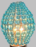 Chandelier Bead Light Candle Bulb Turquoise Teal Glass Cover Sleeve Lampshade Alternative Beaded 10