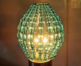 Chandelier Bead Light Candle Bulb Turquoise Teal Glass Cover Sleeve Lampshade Alternative Beaded 9