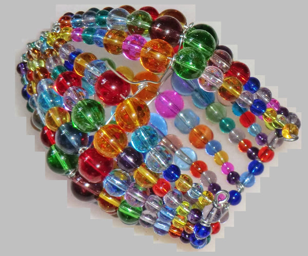 Chandelier Bead Candle Light Bulb Multi Colour Rainbow Glass Cover Sleeve Lampshade Alternative Beaded 3