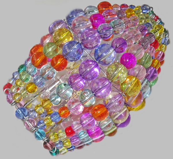 Chandelier Bead Candle Light Bulb Multi Colour Pastel Glass Cover Sleeve Lampshade Alternative Beaded 4