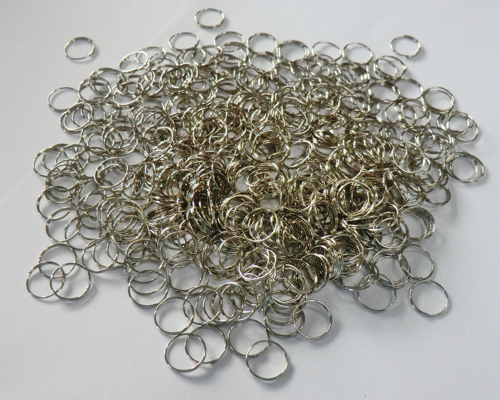 300 Chrome Silver Chandelier 11mm Rings Links for Droplets Crystals Drops 1