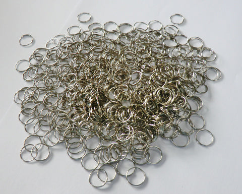 250 Chrome Silver Chandelier 14mm Rings Links for Droplets Crystals Drops 1