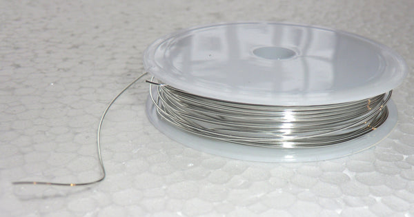 6 Metre Reel Chrome Silver Chandelier Wire Links for Droplets Crystals Drops 1