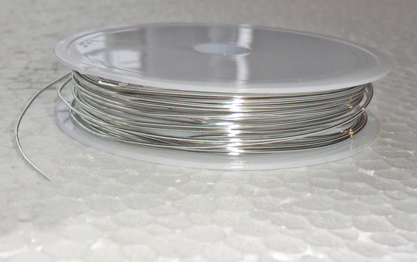 6 Metre Reel Chrome Silver Chandelier Wire Links for Droplets Crystals Drops 3