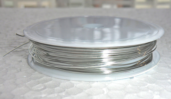 6 Metre Reel Chrome Silver Chandelier Wire Links for Droplets Crystals Drops 4