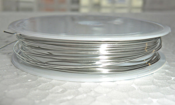 6 Metre Reel Chrome Silver Chandelier Wire Links for Droplets Crystals Drops 5