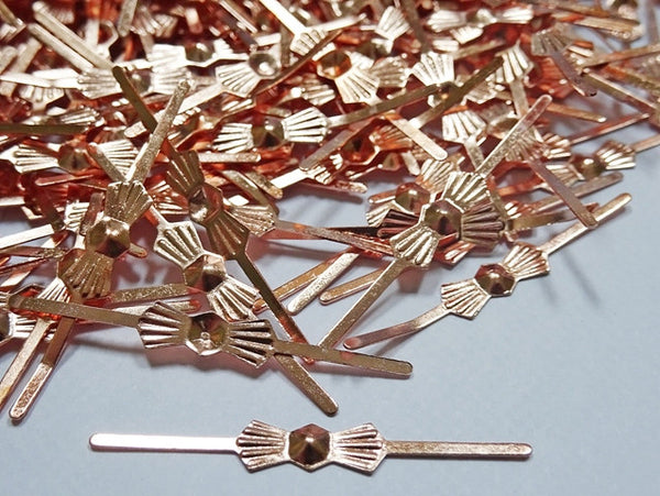 300 Copper Finish Metal Chandelier Clasps Links for Droplets Beads Crystals Drops 3