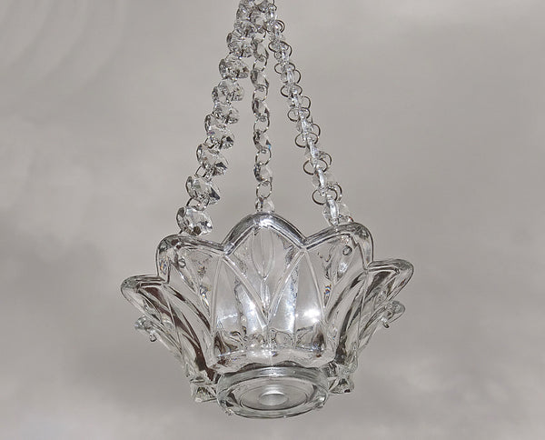 Clear Glass Chandelier Tea Light Candle Holder Wedding Event or Garden Feature 4