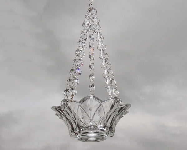 Clear Glass Chandelier Tea Light Candle Holder Wedding Event or Garden Feature 8