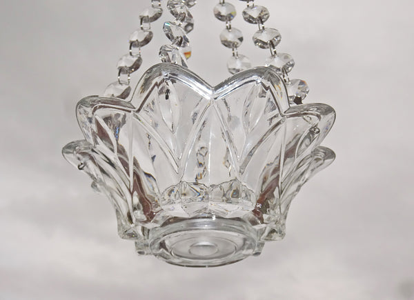 Clear Glass Chandelier Tea Light Candle Holder Wedding Event or Garden Feature 6