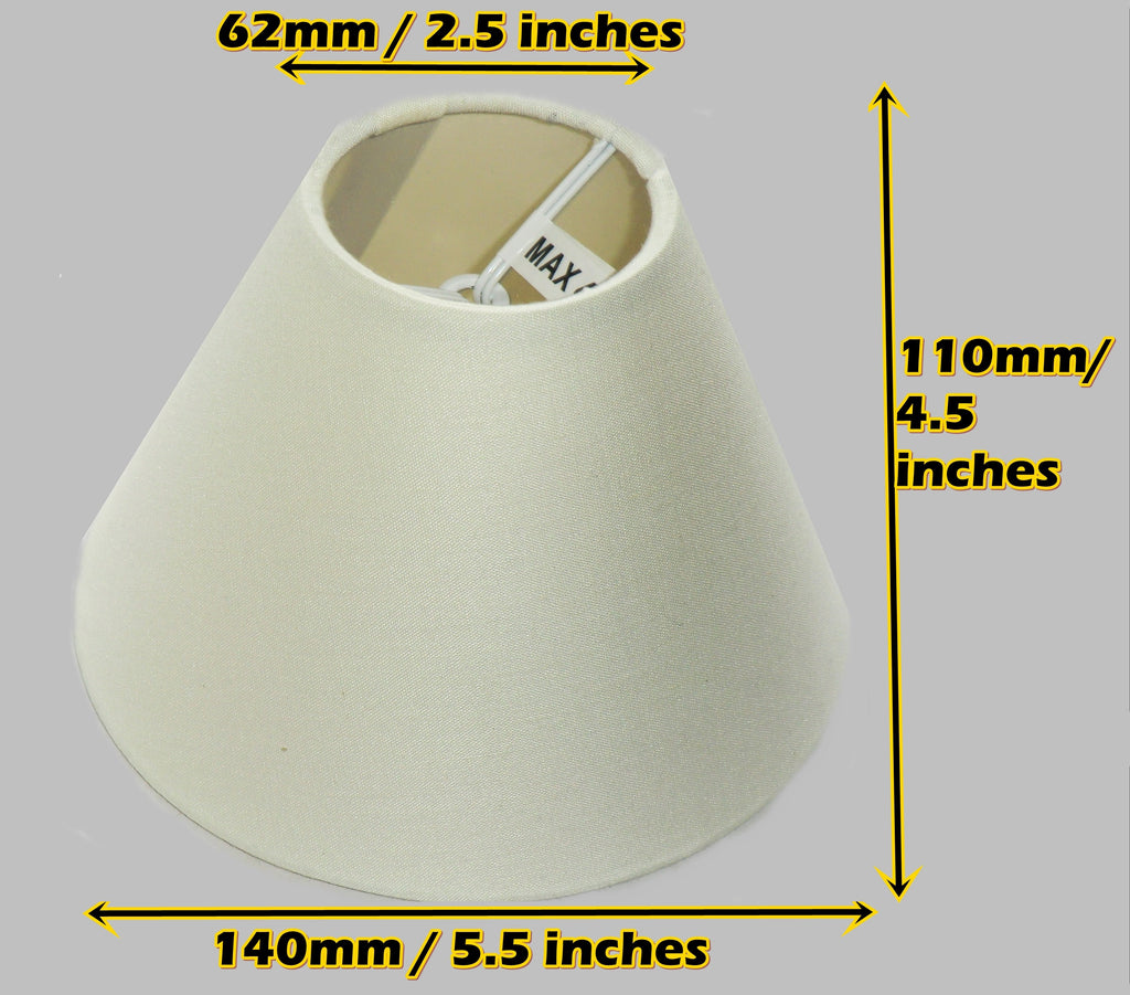 "Cream Clip On Candle Lampshade 5.5"" Chandelier Pendant Light Shade Retro Chic 3"